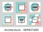 abstract vector layout... | Shutterstock .eps vector #489837685