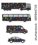 vehicles for advertising and... | Shutterstock .eps vector #489844735
