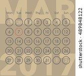 calendar for 2017. march. week...