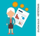 person infographics graphics... | Shutterstock .eps vector #489850666