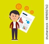 person infographics graphics... | Shutterstock .eps vector #489850762