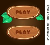 cartoon wooden game buttons...