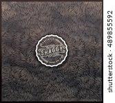 beige  brown vector shaggy fur... | Shutterstock .eps vector #489855592