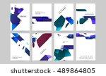 annual report brochure template ... | Shutterstock .eps vector #489864805