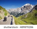 close view on motorbike on the... | Shutterstock . vector #489870286
