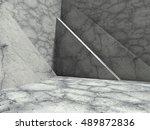 modern concrete architecture... | Shutterstock . vector #489872836