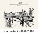 berlin  germany  europe.... | Shutterstock .eps vector #489889102