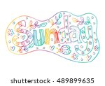 sunday text. decorative style. | Shutterstock .eps vector #489899635