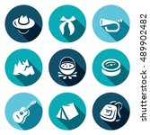 vector set of scouting icons.... | Shutterstock .eps vector #489902482