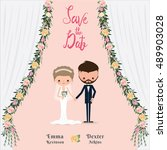 Cartoon Wedding Couple Save The ...