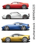 Vector Set Of Cars. Sport...