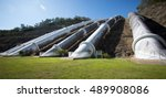 water pipelines to hydro... | Shutterstock . vector #489908086