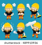 vector illustration   cartoon... | Shutterstock .eps vector #489910936