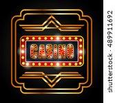 casino lights banner icon... | Shutterstock .eps vector #489911692