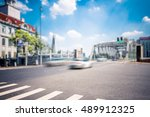 shanghai street view with... | Shutterstock . vector #489912325