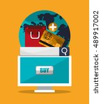 shopping online ecommerce and...   Shutterstock .eps vector #489917002