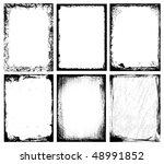 textured frames | Shutterstock .eps vector #48991852