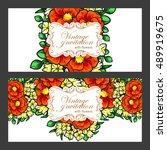 vintage delicate invitation... | Shutterstock . vector #489919675