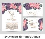 romantic invitation. wedding ... | Shutterstock .eps vector #489924835