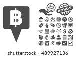 thai baht map pointer... | Shutterstock .eps vector #489927136