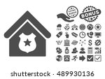 police office icon with bonus... | Shutterstock .eps vector #489930136