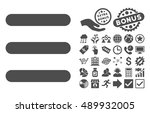 menu items pictograph with...
