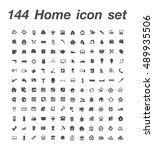 144 home icon set | Shutterstock .eps vector #489935506