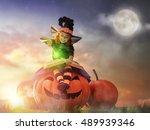 Happy Halloween  Cute Cheerful...