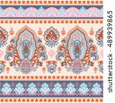indian floral paisley medallion ... | Shutterstock .eps vector #489939865