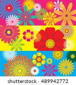 floral pattern   illustration | Shutterstock .eps vector #489942772