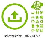 upload icon with free bonus... | Shutterstock .eps vector #489943726