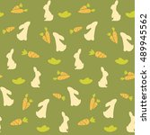seamless childish pattern with... | Shutterstock .eps vector #489945562