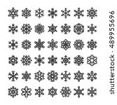 cute snowflake collection... | Shutterstock .eps vector #489955696
