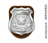 silver steel police  security... | Shutterstock .eps vector #489969802