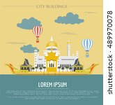 city buildings graphic template.... | Shutterstock .eps vector #489970078