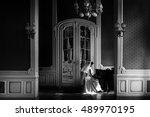 Elegant Gorgeous Bride Playing...