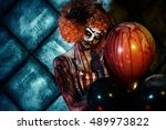 Evil Redhead Clown Stained In...