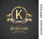 k letter logo  monogram design...   Shutterstock .eps vector #489976216