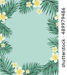 tropical jungle rectangular... | Shutterstock .eps vector #489979486