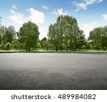 empty field at the nice and... | Shutterstock . vector #489984082