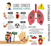 lung cancer infographics | Shutterstock .eps vector #489984145