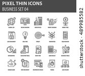 thin line flat icons pack for...   Shutterstock .eps vector #489985582