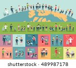 school education in the world... | Shutterstock . vector #489987178