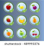fruit icons  fruit labels