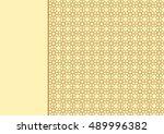 beautiful arabesque geometric...   Shutterstock .eps vector #489996382