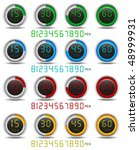 colored set of digital timers | Shutterstock .eps vector #48999931