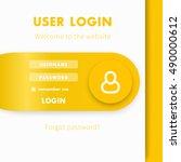 user login window  login page...