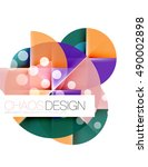 dotted circles  abstract vector ... | Shutterstock .eps vector #490002898
