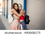 girl fun fashion | Shutterstock . vector #490008175