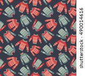 vector seamless pattern with... | Shutterstock .eps vector #490014616